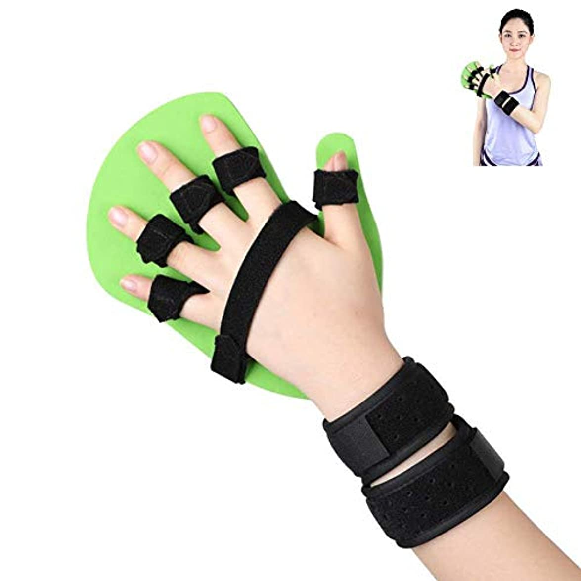 メルボルン比率フィドル指の損傷のサポート、指の延長スプリントセパレーター装具は、最適な指の機器トレーニング機器をサポートします,RightHand-L