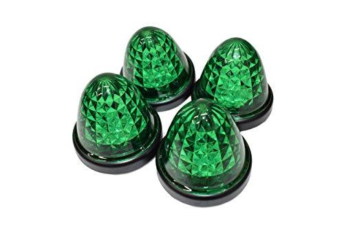 選べる5色 LED 16 発 サイド バス マーカー ライト ランプ 【ADVANTAGE】 トラック 用 24V 車 に (l 防水グリーン4個)
