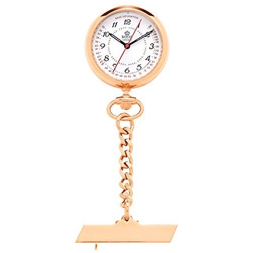 [해외]로얄 런던 ROYAL LONDON 석영 간호사 시계 회중 시계 21019-03 핑크 골드 국내 정품 [병행 수입품]/Royal London ROYAL LONDON quartz nurse watch pocket watch 21019-03 pink gold domestic regular goods [parallel import goods]