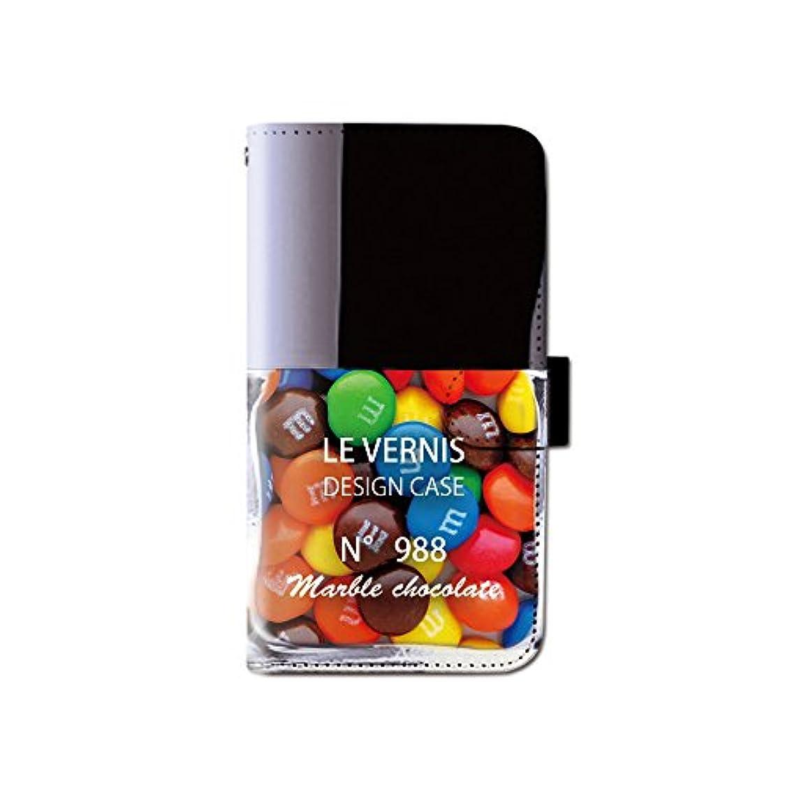 チップ気分レジiPhone XR 6.1 iPhoneXR マニキュア チョコ スイーツ スマホケース 手帳型 マグネット式 カード収納 dy001-00143-04 iPhone XR (6.1インチ):L