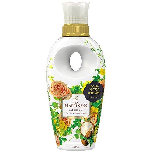 レノアハピネス 柔軟剤 ナチュラルフレグランス プリンセスパールブーケ&シアバターの香り 本体 520ml