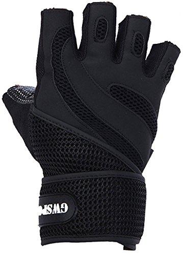 【正規品】 筋トレ ウェイトリフティング トレーニング ジム グローブ リストフラップ付き 上位仕様 7カラー 3サイズ M/L/XL 【GW SPORTS】(ブラック XL)