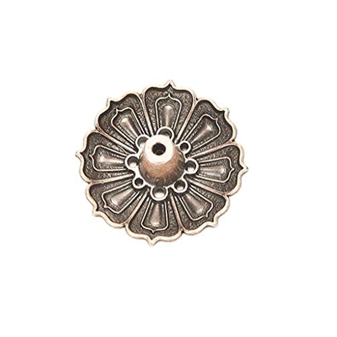 ペデスタルブランチレインコート合金9穴蓮香バーナー花型香りプレート灰キャッチャー香スティックコーンバーナーホルダーホームフレグランス香ホルダー (Color : Brass, サイズ : 1.37*0.66 inches)