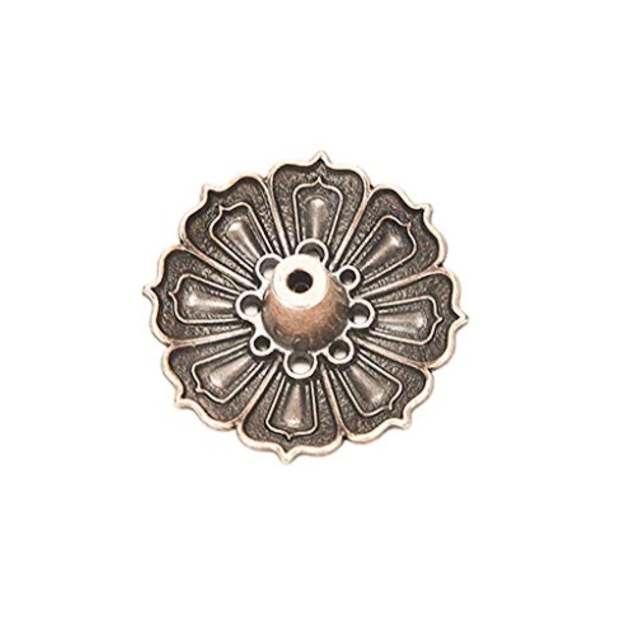 ワイヤーコウモリ新しい意味合金9穴蓮香バーナー花型香りプレート灰キャッチャー香スティックコーンバーナーホルダーホームフレグランス香ホルダー (Color : Brass, サイズ : 1.37*0.66 inches)