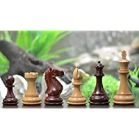 Chessbazaar Fierce Knight Staunton Series Weighted Wooden Chess Pieces In Bud Rose & Box Wood