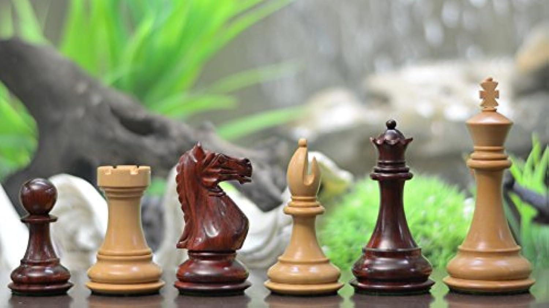 Chessbazaar Fierce Knight Staunton Series Weighted Wooden Chess Pieces In Bud Rose & Box Wood