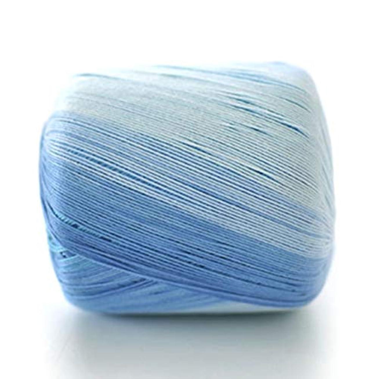 Saikogoods 手作りかぎ針編みのフック糸 色付け レース糸 5号ピュアコットン ファインニットウール ソフト滑らかな 縫製ライン 青