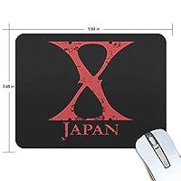 X Japan X ロックミュージック マウスパッド おしゃれ 高級感 ゲーミングマウスパッド オフィス最適 防水 耐久性が良い 滑り止めゴム 190x250x5mm