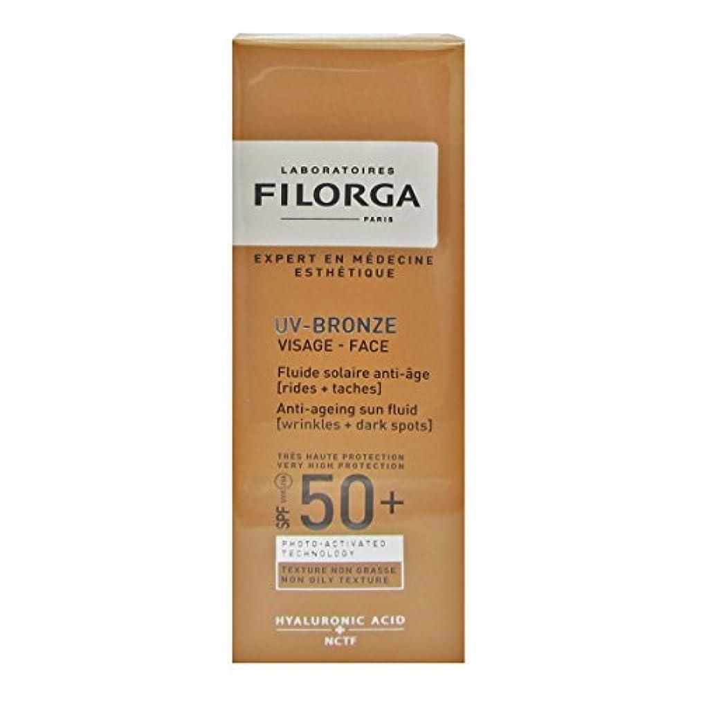 専制取り戻す脊椎Filorga Uv-bronze Face Fluid Spf50+ 40ml [並行輸入品]