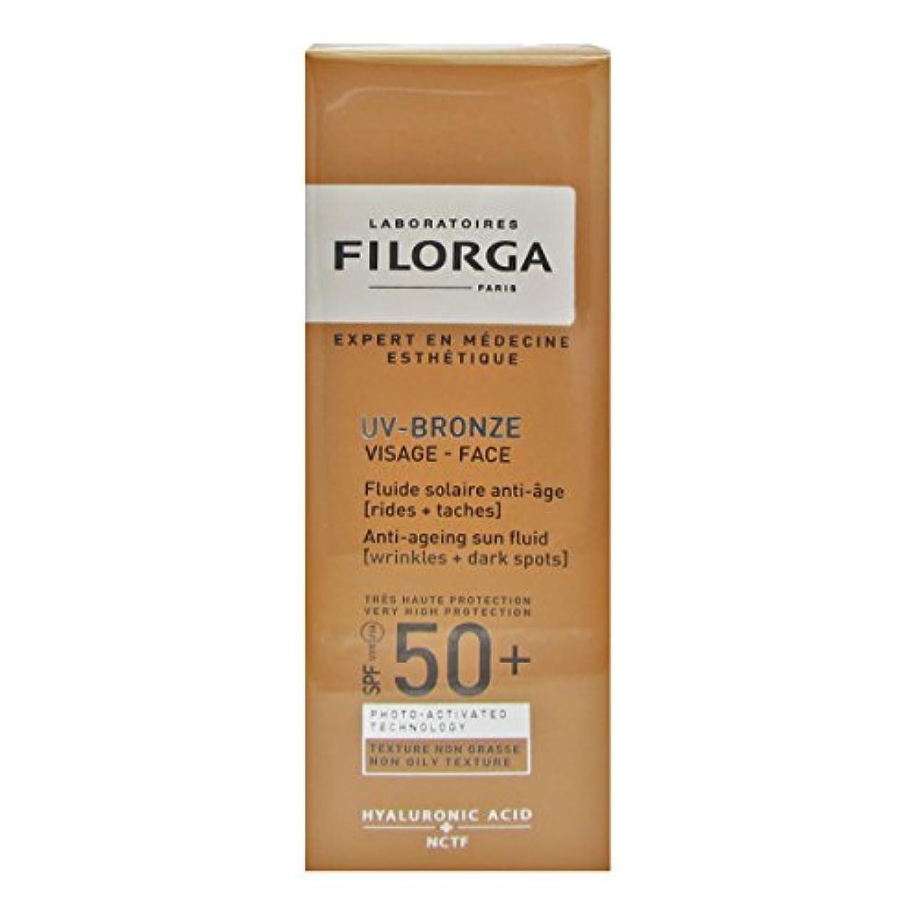 資金添加剤技術者Filorga Uv-bronze Face Fluid Spf50+ 40ml [並行輸入品]
