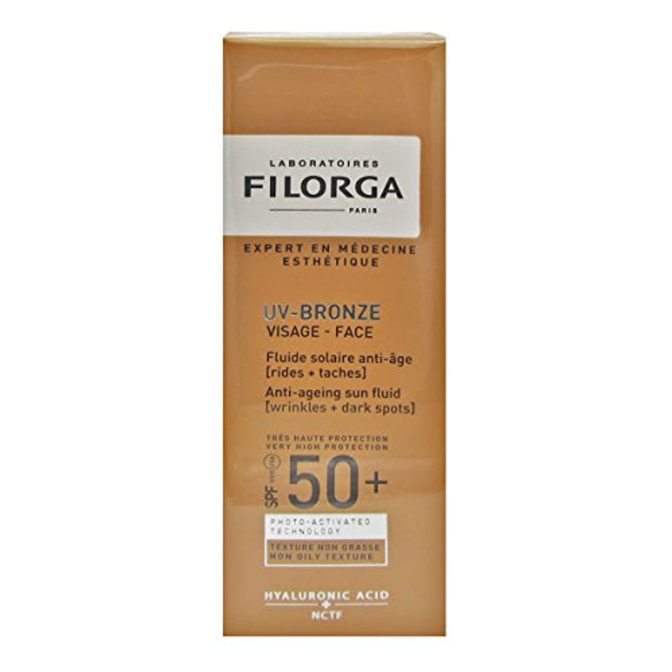 Filorga Uv-bronze Face Fluid Spf50+ 40ml [並行輸入品]