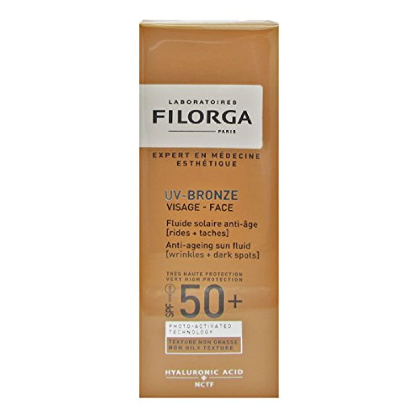句周囲聖歌Filorga Uv-bronze Face Fluid Spf50+ 40ml [並行輸入品]