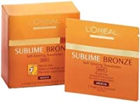 L'Oreal Paris Sublime Bronze Self-Tanning Body Towelettes, 6 Count by L'Oreal Paris