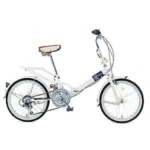 Raychell(レイチェル) 6段変速折り畳み自転車 20インチ VO206 ホワイト 20インチ VO-206 WH