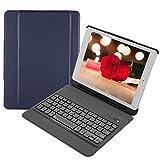 ワイヤレスキーボードケース Acouto 超薄型 防水 ポータブル ワイヤレス キーボード保護ケース レザーケース 折りたたみ式 タブレットPCケース スタンド iPad 9.7用(ブルー)