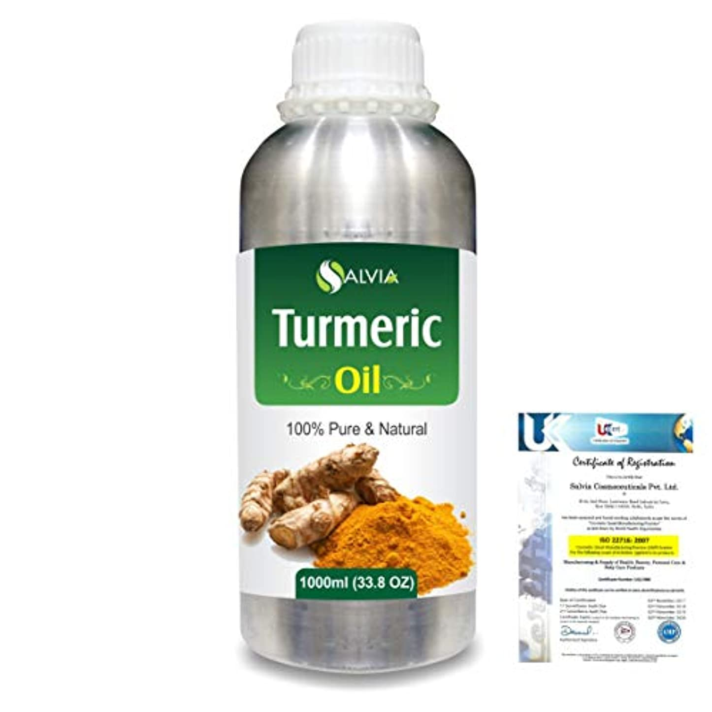 料理傾向がある切断するTurmeric (Curcuma Longa) 100% Pure Natural Essential Oil 1000ml/33.8fl.oz.