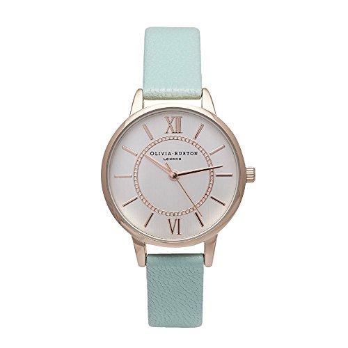 Olivia Burton オリビアバートン WONDERLAND ローズゴールド × ミント 30mm 女性 レディース 腕時計 レザー