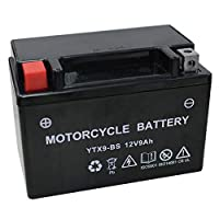 バイク用 バッテリー 液入り 充電済み YTX9-BS ( CTX9-BS / YTR9-BS / GTX9-BS / FTX9-BS 互換 )