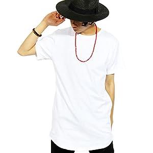 (エイト) 8(eight) ロング丈 半袖 Tシャツ 無地 日本製 カットソー 高品質 ストリート ホワイト L on311--11--L