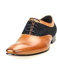 [ルシウス] LUCIUS ビジネスシューズ メンズ 革靴 本革 内羽根 プレーントゥ レースアップ コンビ紳士靴 2色