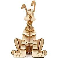 ディズニー Pluto Book and 3D 木製モデルキット - 組み立て、ペイント、コレクション、独自の木製モデル - 子供と大人、8歳以上に最適