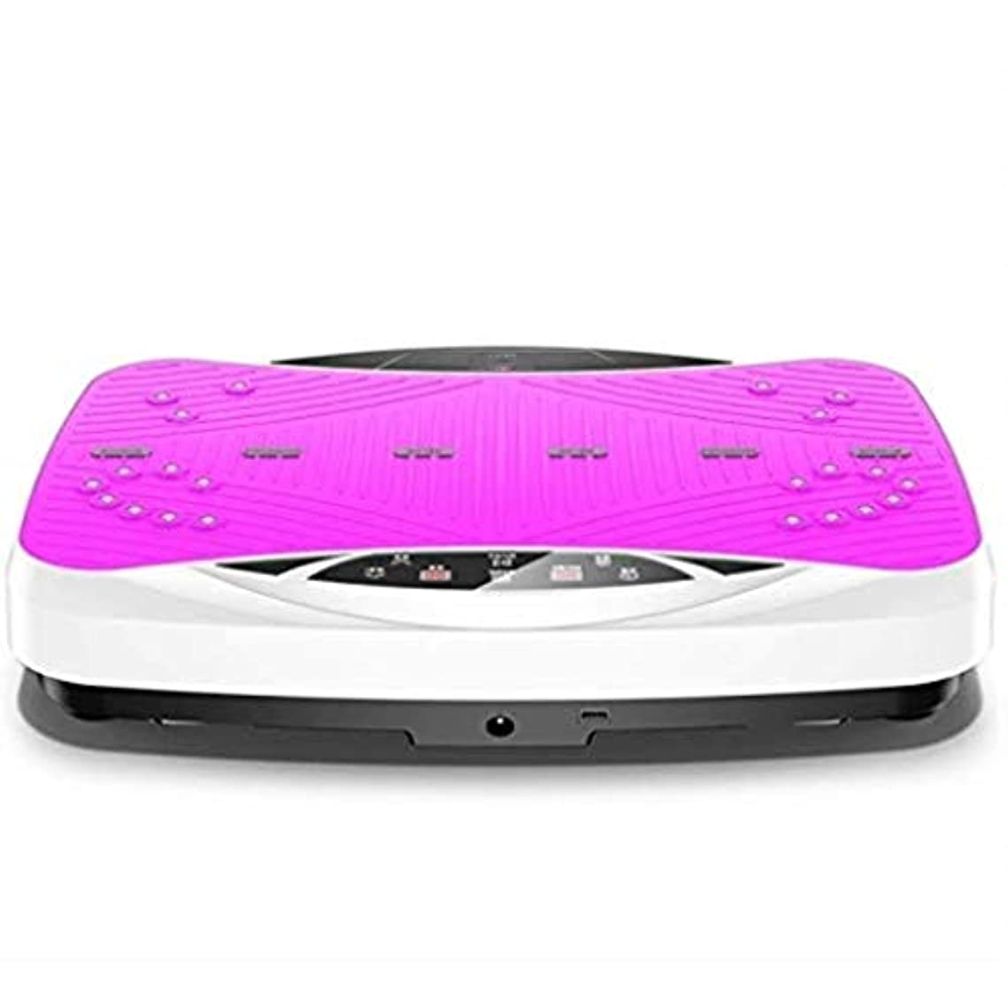 標高配置タブレット減量装置、プロのバイブレーショントレーナー、3Dテクノロジーミュージックスピーカー、体重を減らす99レベルの速度、過剰な脂肪を減らすための全身振動 (Color : ピンク)