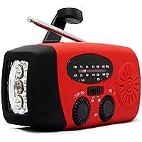 懐中電灯 ラジオライト AMFMラジオ 手回し充電 太陽光充電 USB充電対応 スマホ充電機能 日本全国ラジオ局対応ラジオ