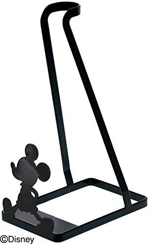 山崎実業 コードレス クリーナー スタンド おさんぽミッキー ブラック 約W15XD24XH38cm ディズニー 90039