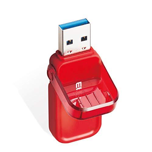 USBメモリ 16GB USB3.0 3.1 (Gen1) なくさないキャップ レッド エレコム MF-FCU3016GRD