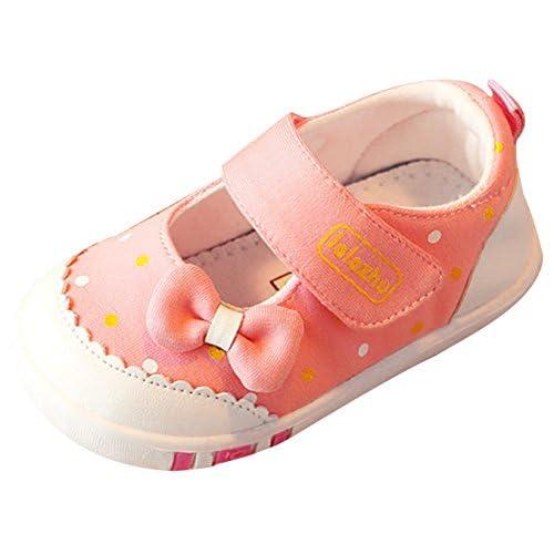 EOZY ベビー靴 幼児 赤ちゃん ファーストシューズ かわいい 女の子 女児 子供 キッズシューズ 柔らかい 歩行練習用 滑り止め 春秋 ピンク 内寸14.5cm