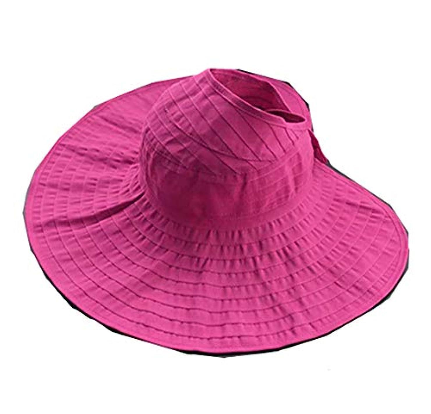 信条無法者基礎Yongqinghui 帽子 レディース 野生の春秋 旅行サンバイザー UV保護 顔 サンハット 空のトップサンハット