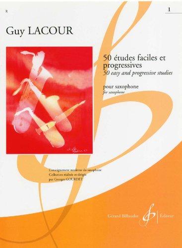 ラクール: サクソフォンのための50の易しく漸新的な練習曲 第1巻/ビヨドウ社