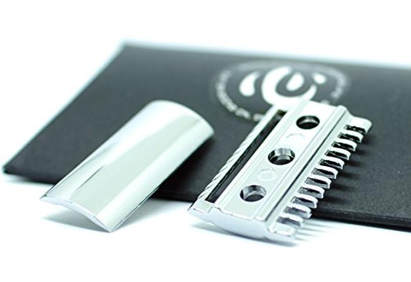 彼ら強要枯渇する【shin's shaving】 クロームメッキ仕上げ 高級両刃カミソリホルダー(加工精度アップ) ヘッドのみ 【コンビタイプ】 [並行輸入品]