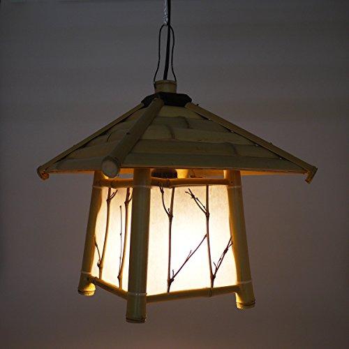 竹灯篭風フロアライト 吊り下げ・据え置きライト LED電球セット 40W形相当 電球色 E26