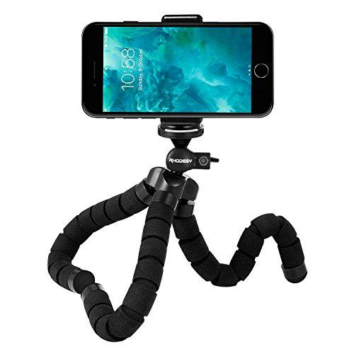 【ロデシー】 Rhodesy クネクネ三脚 タコ型三脚スタンド 三脚ホルダー ゴリラポッド 自由雲台付き デジカメ スマホン iphone 8 8 Plus Xに適用 軽量 便利 携帯しやすい