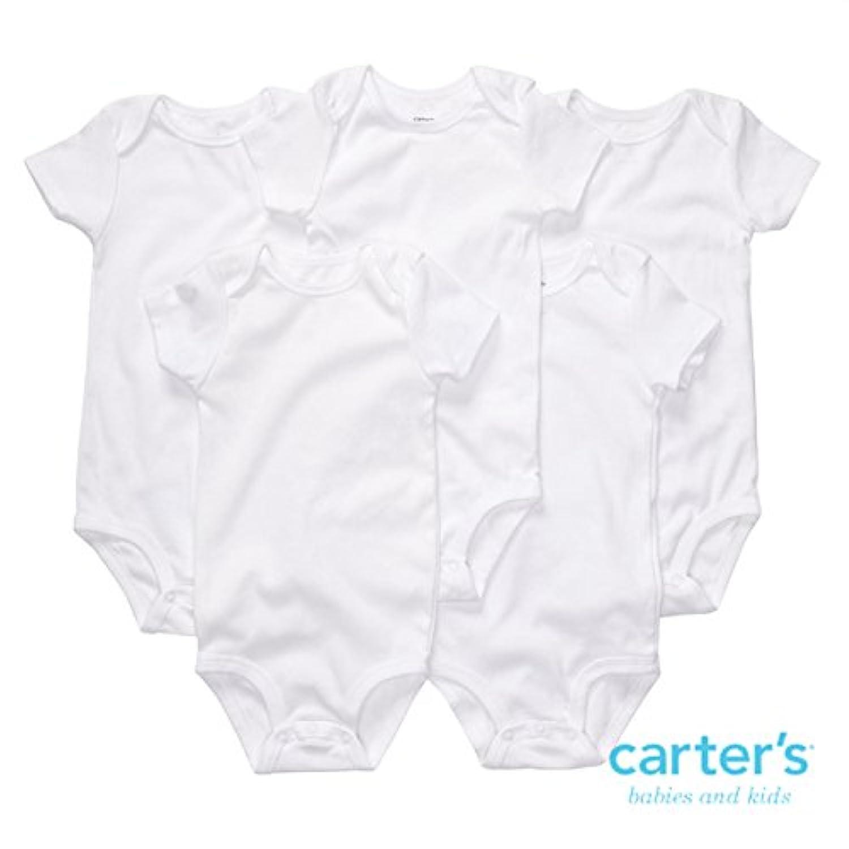 カーターズ(Carter's)ホワイト天使の半袖肌着 男女兼用真っ白なエンジェル半袖ボディースーツ5枚セット 6months(61-67cm) 6ヵ月用 白 ロンパース 綿タンクトップ ボディスーツ,下着 [並行輸入品]