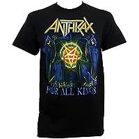 グローバルAnthraxメンズfor all Kings Tシャツブラック