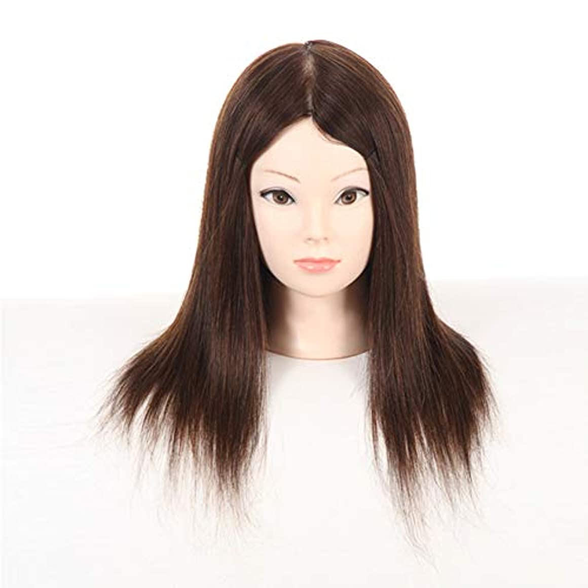 会員マットレステクスチャー本物の髪髪編組髪ヘアホット染料ヘッド型サロンモデリングウィッグエクササイズヘッド散髪学習ダミーヘッド