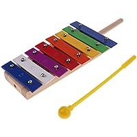 Prettyia 8トーン アルミニウム シロホン 子供 楽器おもちゃ