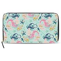 Clutch Leather long Wallet for Women,Girls Like Mermaid,Card Holder Purse Bag