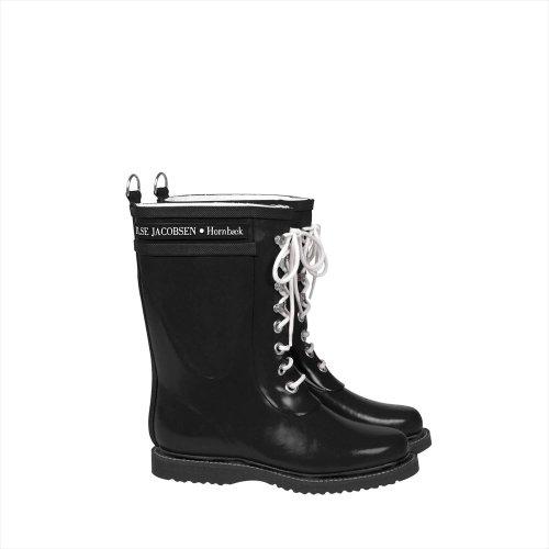 CLASSIC RUBBER BOOTS MIDDLE (クラッシック ラバーブーツ ミドル) (EU35(22.5~23cm), 01 BLACK ブラック 黒)