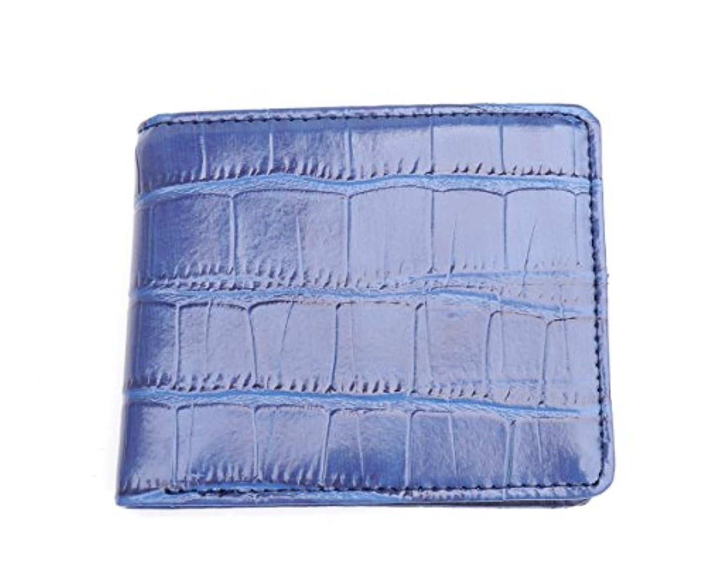 飢えた最小マーガレットミッチェル牛革 折り財布 カード入れ クロコ調型押し 財布 メンズ YW-307-3