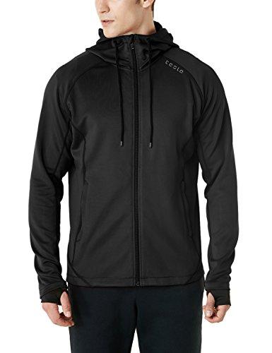 (テスラ) TESLA ランニング ジャケット [UVカット・防風]ランニングウェア 長袖 スポーツ ジャージ 上着 MKJ03-BLK_M