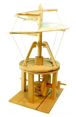 あおぞら レオナルド・ダ・ヴィンチの木製科学模型 ヘリコプター