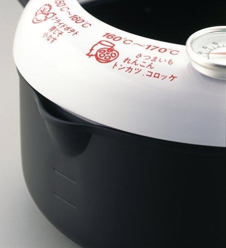 あげた亭 温度計付天ぷら鍋 20cm SH9257