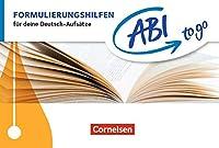 Formulierungshilfen: Fuer deine Deutsch-Aufsaetze. Taschenbuch zum Nachschlagen und Ueben