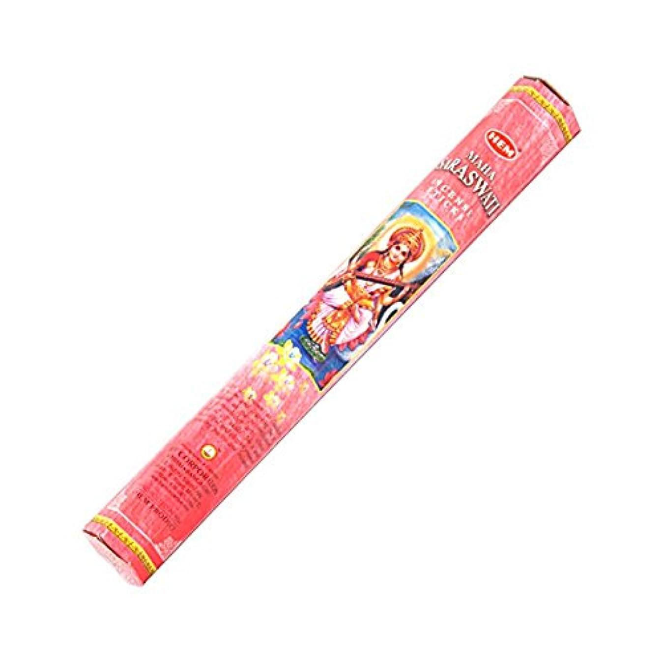 ビリーヤギ上流のHEM(ヘム) サラスワティ SARASWATI スティックタイプ お香 1筒 単品 [並行輸入品]