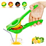 Yimobra Lemon Lime Squeezer, Heavy Duty Metal Manual Hand Juicer Press for Lemons, Limes Citrus Fruit, No Pulp or Seeds, Dishwasher Safe, Premium Quality Juicing Kitchen Tool, Green
