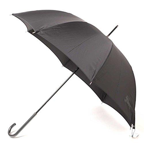 傘 シンプル スリム 軽量 無地 シャドーロゴ 60サイズ 全長91cm 親骨60cm バーバリー 71851 BURBERRY ブラック メンズ