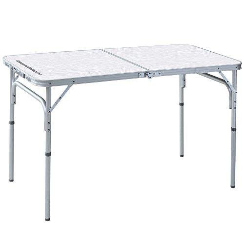山善(YAMAZEN) キャンパーズコレクション キャンピングフォールディングテーブル(幅120奥行60) YAT-1260F(WW)